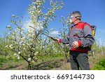Agricultural Worker In A Apple...