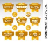vintage label set   Shutterstock .eps vector #669147226