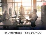 business people working... | Shutterstock . vector #669147400