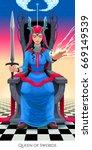 Queen Of Swords  Tarot Card....