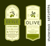 set of labels for olive oils | Shutterstock .eps vector #669149596