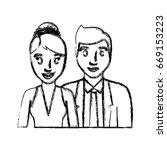 wedding couple icon | Shutterstock .eps vector #669153223