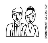 wedding couple icon | Shutterstock .eps vector #669153769
