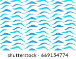 blue and cyan waves pattern | Shutterstock .eps vector #669154774
