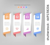 infographic template of four...   Shutterstock .eps vector #669158206