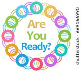 are you ready colorful rings... | Shutterstock . vector #669166990