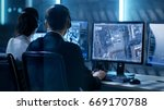 government agent is tracking... | Shutterstock . vector #669170788