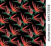 seamless pattern made of hand... | Shutterstock . vector #669172018