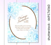 romantic invitation. wedding ... | Shutterstock .eps vector #669176560