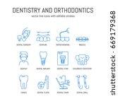 vector dentistry and... | Shutterstock .eps vector #669179368