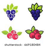 cartoon currant black and... | Shutterstock .eps vector #669180484