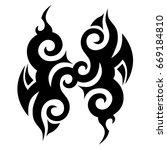 tattoo tribal vector designs. | Shutterstock .eps vector #669184810