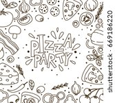 pizza background for your design | Shutterstock .eps vector #669186220