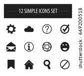 set of 12 editable internet...
