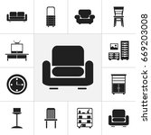 set of 12 editable furnishings...