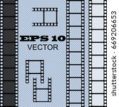 set of vector film strip... | Shutterstock .eps vector #669206653