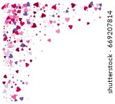 vector hearts confetti. pink... | Shutterstock .eps vector #669207814