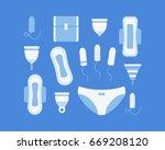 intimate hygiene vector flat... | Shutterstock .eps vector #669208120