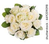 beautiful bouquet of roses | Shutterstock . vector #669209098