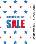 independence day sale | Shutterstock .eps vector #669212080
