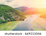 top view of a river  in the... | Shutterstock . vector #669213346