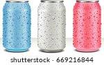aluminum tin cans in white ... | Shutterstock .eps vector #669216844