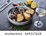 Mussels White Wine Sauce Glass - Fine Art prints