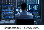 system security specialist... | Shutterstock . vector #669226093