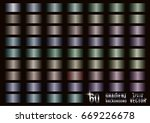 set of 60 colored gradients ... | Shutterstock .eps vector #669226678