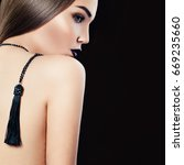 glamorous woman fashion model... | Shutterstock . vector #669235660