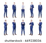 set of a young and handsome... | Shutterstock . vector #669238036
