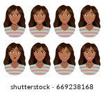 women's emotions. female face...   Shutterstock . vector #669238168
