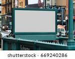 subway entrance billboard.... | Shutterstock . vector #669240286