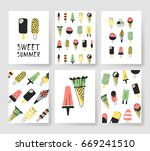 set of templates for summer... | Shutterstock .eps vector #669241510