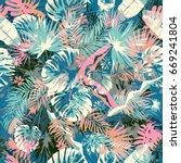 exotic summer endless...   Shutterstock .eps vector #669241804