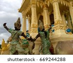 Small photo of Shrine of the household god in Thailand.The symbol of Thai people's belief in holy thing.