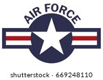 Air Force Roundel On White...