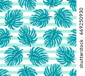 cute seamless pattern with... | Shutterstock .eps vector #669250930