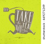 poster running cup in retro... | Shutterstock . vector #669271249