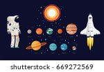 creative flat vector solar... | Shutterstock .eps vector #669272569