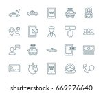 taxi service set of vector icons | Shutterstock .eps vector #669276640