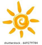 sun logo.  | Shutterstock .eps vector #669279784