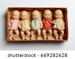 Set Of Little Vintage Dolls ...