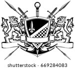 The Black White Coat Of Arms...