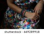 hands of a woman | Shutterstock . vector #669289918