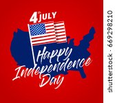 modern patriotic 4th of july... | Shutterstock .eps vector #669298210
