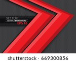 abstract red arrow overlap on... | Shutterstock .eps vector #669300856