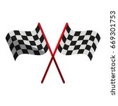 final lap flags icon image  | Shutterstock .eps vector #669301753