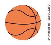 basketball ball icon image  | Shutterstock .eps vector #669302290