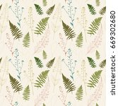 vector seamless pattern with... | Shutterstock .eps vector #669302680